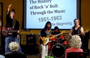 Fitz Circle at the Hillsborough Library in Hillsborough, NJ - The History of Rock 'n' Roll.